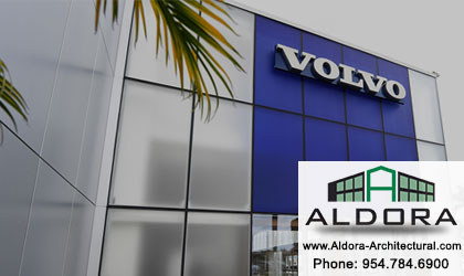 Aldora Aluminum-on demand-HSW-Glass-Pre-glazed Impact Storefront-hurricane-resistant
