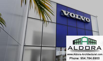 Aldora Aluminum-on demand-HSW-Glass-Pre-glazed Impact Storefront-hurricane-resistant